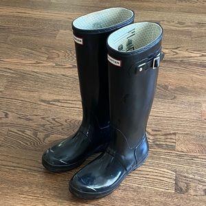 Women's Original Tall Glossy Black Hunter Boots